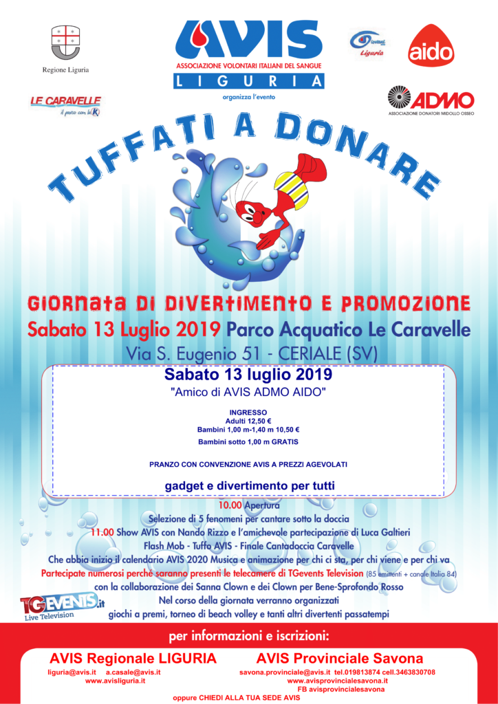 Tuffati a donare 2019